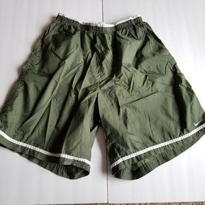 Nike Olive Green Vintage Net Swim Trunks XL